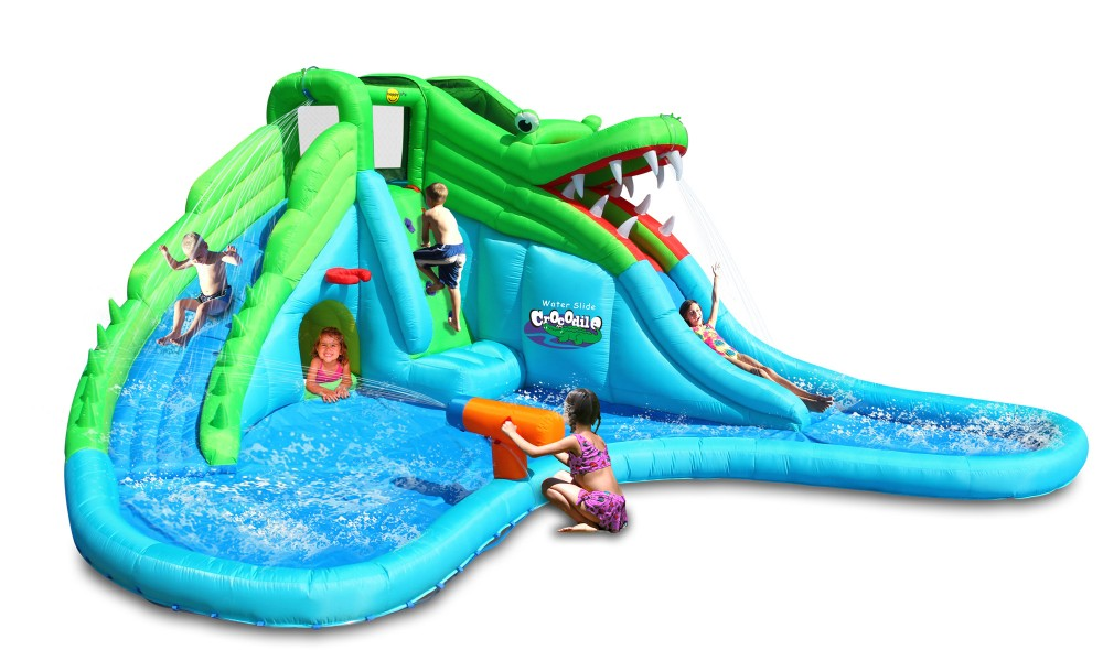 Gonfiabile per bambini crocodile con giochi d 39 acqua for Piscine x bambini