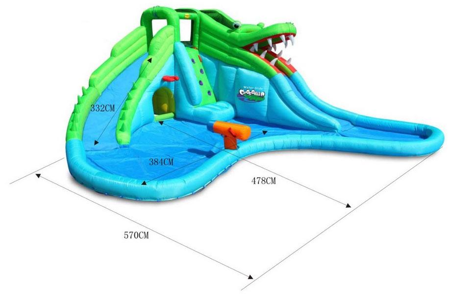 Famoso Gonfiabile per bambini CROCODILE con giochi d'acqua | youtoys.it JX59