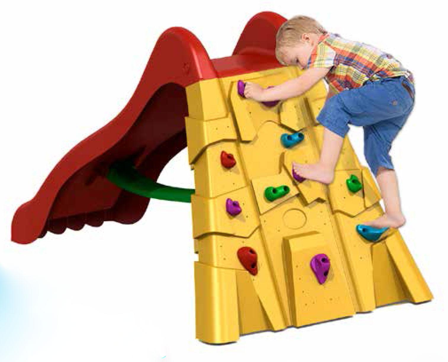 Scivolo in plastica rocks 200 cm con appoggi per scalata - Altalene bambini per esterno ...