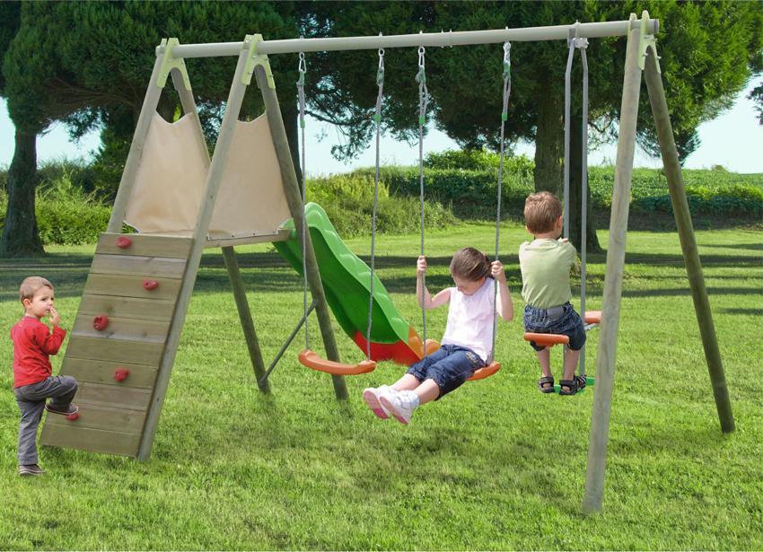 Parco giochi ciclamino altalene scivolo cavalluccio - Altalena per giardino ...