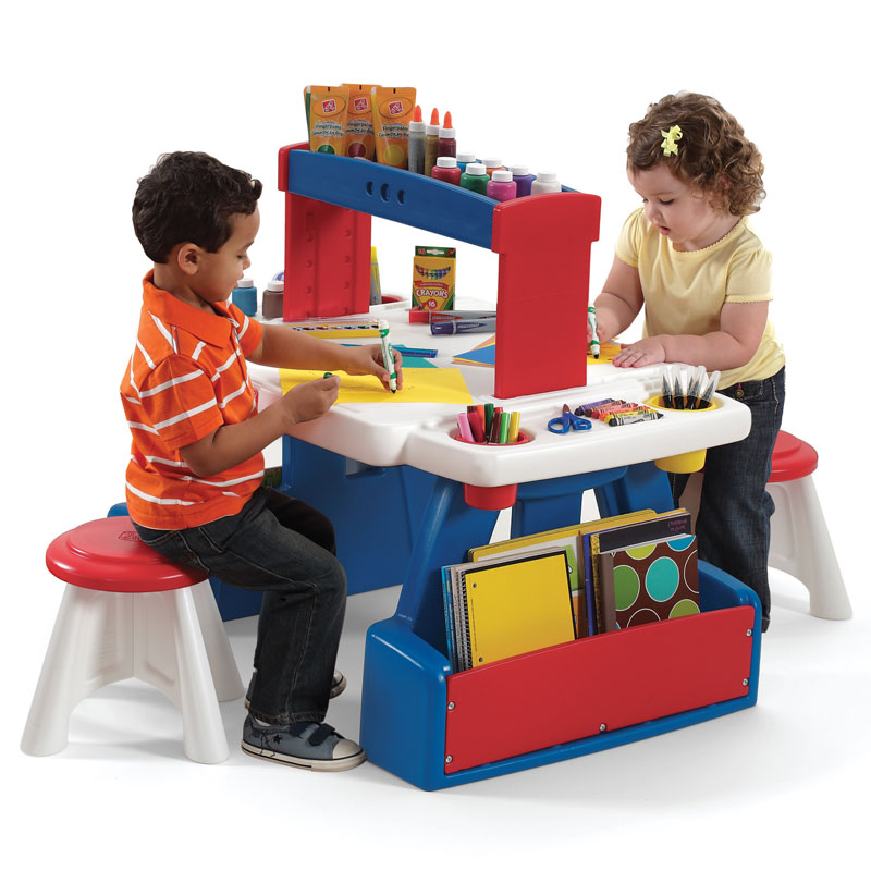 Tavolo Multifunzione Arte Per Bambini Con Sgabelli